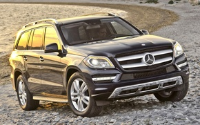 Picture water, background, shore, Mercedes-Benz, Mercedes, jeep, the front, 450