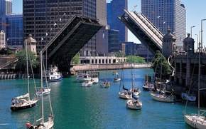Picture city, the city, USA, Chicago, Illinois