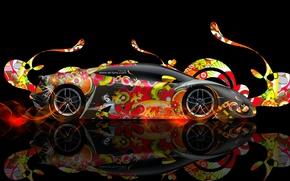 Picture Lamborghini, Abstract, Photoshop, Photoshop, Abstract, Black, Lamborghini, Effects, Colorful, el Tony Cars, Tony Kokhan, Huracan, …