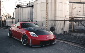 Picture nissan, red, tuning, 350
