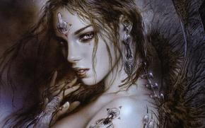 Picture girl, fantasy, Luis Royo