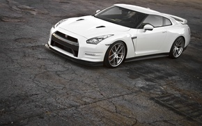 Picture GTR, Nissan, White, Wheels, Hromium