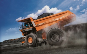 Picture dump truck, Hitachi, EH4000AC