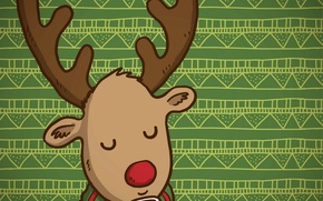 Picture background, deer, scarf, Cup