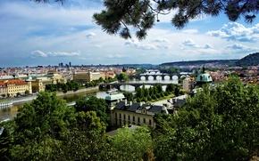Picture Prague, Vltava, Wallpapers Czech Republic, Prague bridges