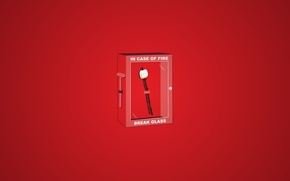 Wallpaper red, box, wand, fire