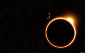 Picture the sun, planet, Eclipse