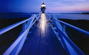 Picture The evening, Lighthouse, Maine