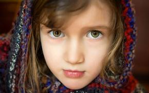 Wallpaper eyes, face, portrait, girl, shawl