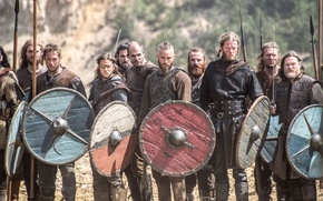 Picture the series, warriors, shields, historical, Vikings, The Vikings, Travis Fimmel, Travis Fimmel