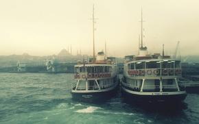 Picture fog, Marina, boats
