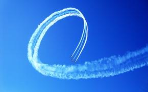 Picture team, flight, aerobatics, sync