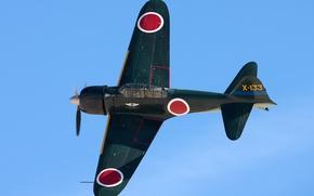 Picture easy, Mitsubishi, Japanese, A6M Zero, deck, fighter