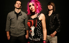 Picture girl, punk, group, Icon For Hire