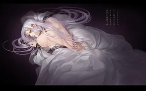 Picture fantasy, anime, art, guy, white hair, encore:n, Beautiful boy