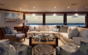 Picture view, luxury, yacht, salon, motor