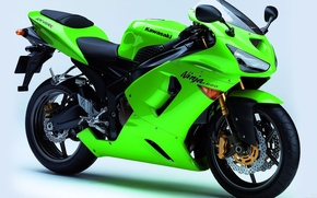 Picture Moto, green, Kawasaki