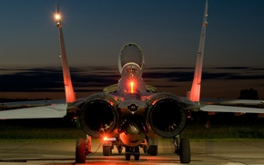Wallpaper the plane, fighter, nozzle, The MiG-29