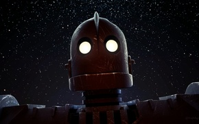 Picture cartoon, robot, The Iron Giant, steel giant