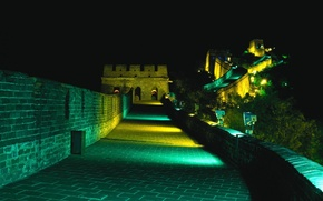 Wallpaper Backlight, The Great Wall Of China, Night