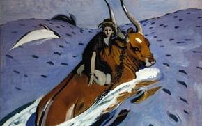 Picture The Rape Of Europa, Valentin Serov, 1910
