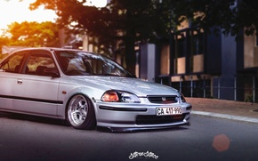 Picture honda, jdm, tuning, civic, low, stance, mugen, type r, vtec