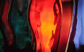 Wallpaper glass, strip, colorful