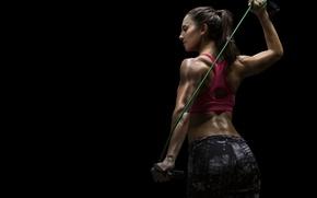 Wallpaper elastic band, workout, transpiration, fitness