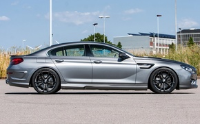 Picture grey, drives, BMW 6-Series