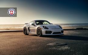 Picture Porsche, Cayman, Black, with, GT4, Satin, HRE, RC100