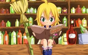 Picture kawaii, game, green eyes, anime, fairy, beautiful, crown, pretty, face, blonde, asian, shop, cute, manga, ...
