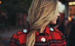 Wallpaper girl, hair, blonde