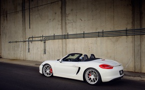 Picture white, Porsche, white, Porsche, Boxster S, 981