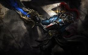 Picture sword, Game, armor, dota 2, rogue knight, DotA, Sven