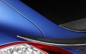Picture macro, blue, tuning, Porsche, Panamera, GTR, lantern, spoiler, Porsche, rear view, tuning, Stingray, Ball Wed, …
