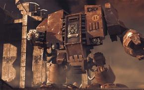 Picture Warhammer, dreadnought, 40k, Blood Ravens, Dawn of War