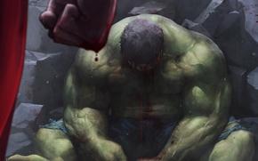 Picture Blood, Hulk, Art, SuperMan, Marvel, Fist, JeeHyung lee