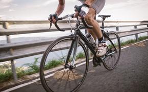 Picture legs, bike, man, cycling