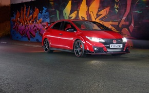 Picture Red, Honda, Civic, Type