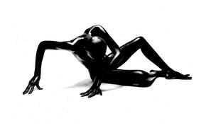 Picture BACKGROUND, BODY, WHITE, CREATIVE, BLACK, SILHOUETTE