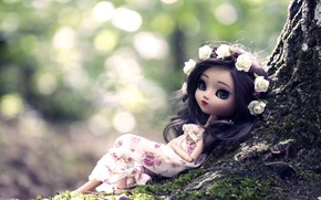 Picture tree, toy, doll, wreath