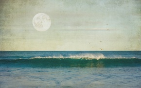 Picture sea, landscape, style, background