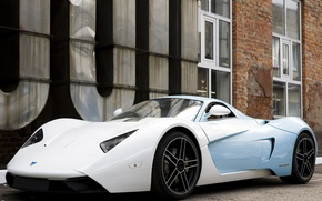 Picture supercar, white, blue, Marusya, MaRussia