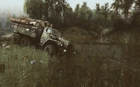 Picture Ural, The roads, spin tires, Open world, SPINTIRES, Simulator