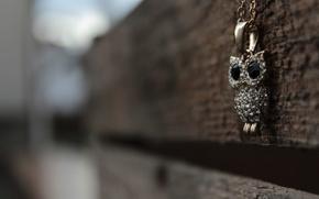 Picture owl, pendant, decoration