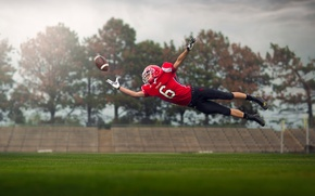 Picture the ball, athlete, flight