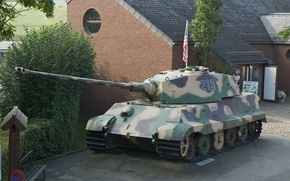 """Picture tank, Belgium, The second world war, German, heavy, """"Royal tiger"""", """"King tiger"""", La Gleize, military …"""