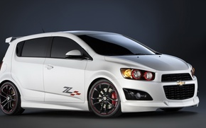 Picture background, tuning, white, chevrolet, sonic