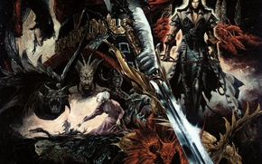 Wallpaper weapons, warrior, dragons, fantasy