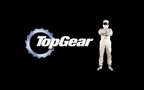 Picture background, the inscription, Top Gear, gear, racer, The Stig, The Stig, the best TV show, …